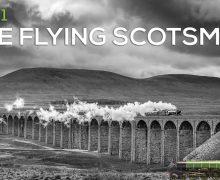 Flying Scotsman over Ribblehead Viaduct