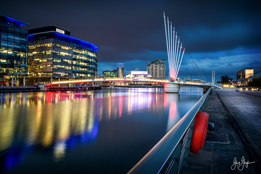 Manchester Quays Blue Hour