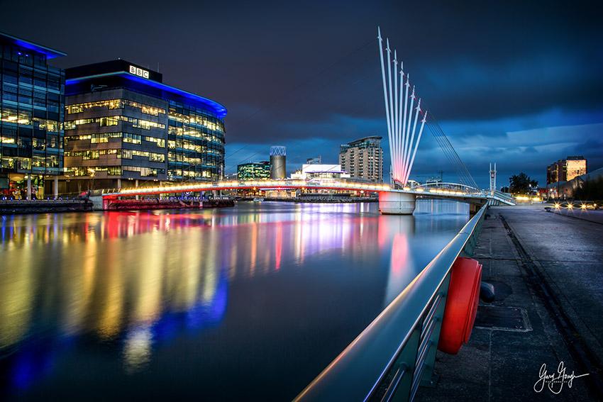 Manchester Quays Blue Hour