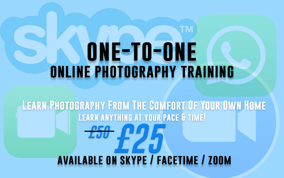 1-2-1 online photography training