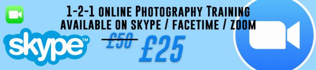 1-2-1 photography training online skype facetime zoom